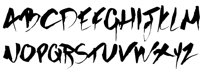 GOTHIC SCRIBBLE Font UPPERCASE