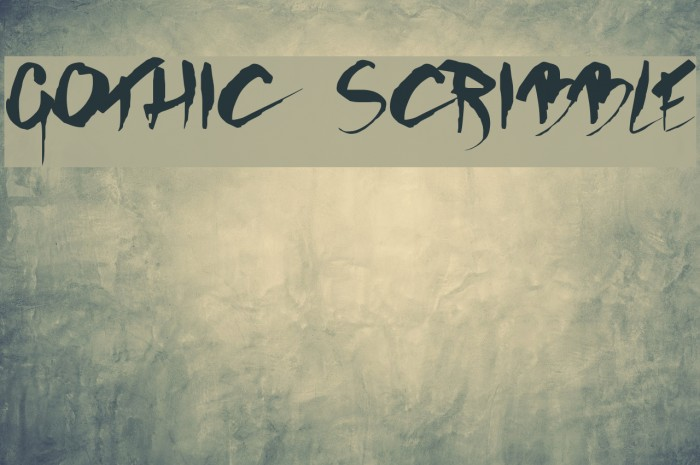 GOTHIC SCRIBBLE Font examples
