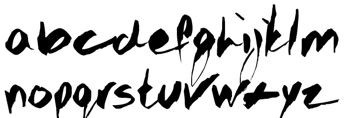GOTHIC SCRIBBLE Font LOWERCASE