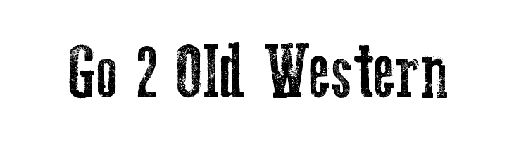 Go 2 Old Western  フリーフォントのダウンロード