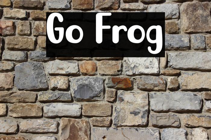 Go Frog फ़ॉन्ट examples