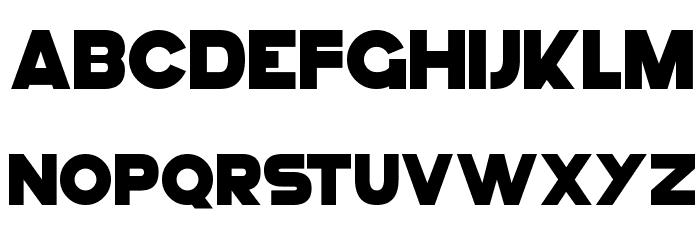 GoGo Hack Schriftart Kleinbuchstaben