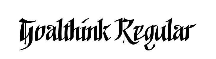 Goalthink Regular  Free Fonts Download