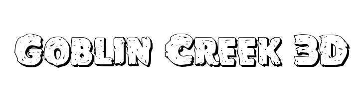 Goblin Creek 3D  Frei Schriftart Herunterladen
