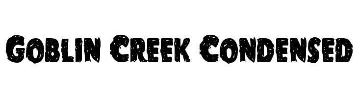 Goblin Creek Condensed  Frei Schriftart Herunterladen