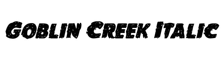 Goblin Creek Italic  Frei Schriftart Herunterladen