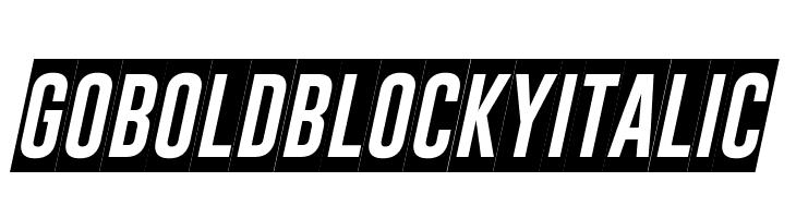Gobold Blocky Italic  Free Fonts Download