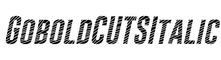 Gobold CUTS Italic  Free Fonts Download