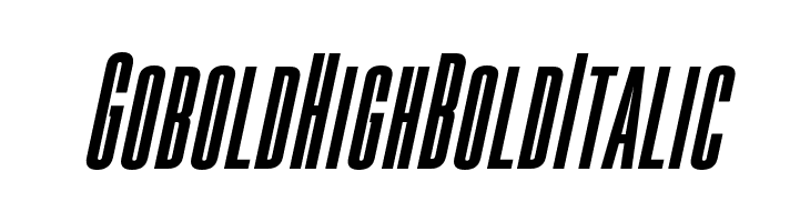 Gobold High Bold Italic  Free Fonts Download