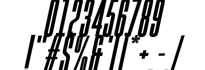 Gobold High Bold Italic Font OTHER CHARS