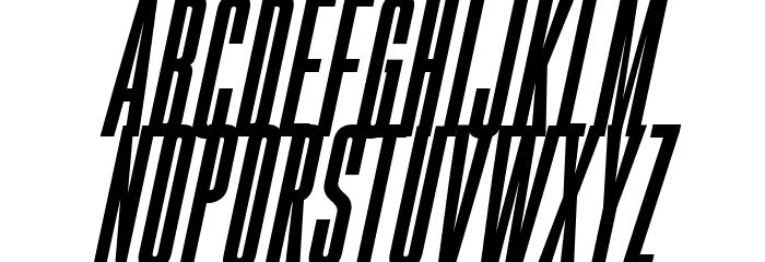 Gobold High Bold Italic Font UPPERCASE