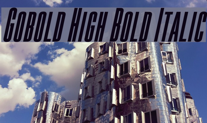 Gobold High Bold Italic Font examples