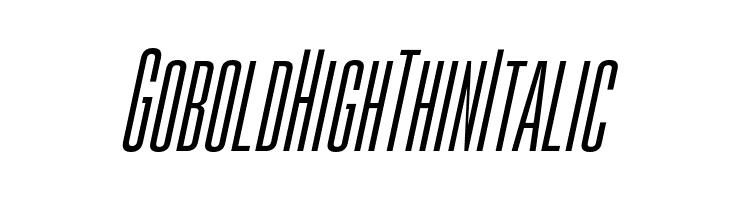 Gobold High Thin Italic  font caratteri gratis