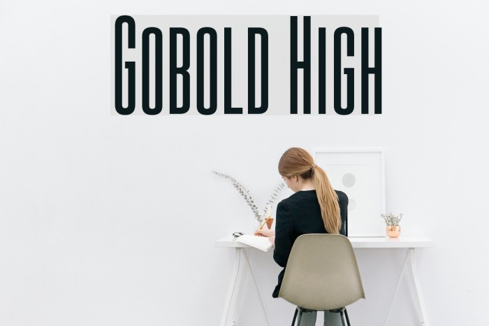 Gobold High Font examples