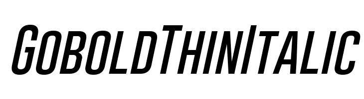 Gobold Thin Italic  baixar fontes gratis