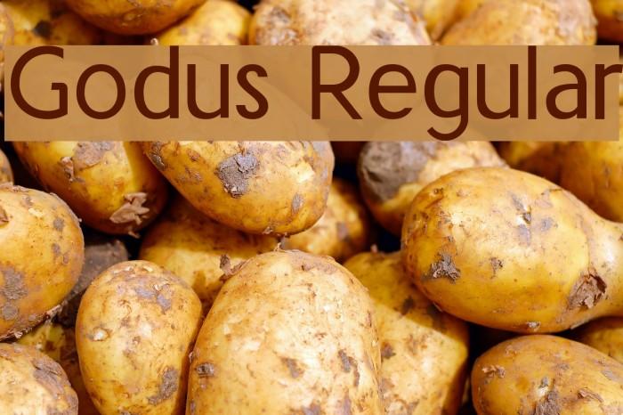 Godus Regular Fuentes examples
