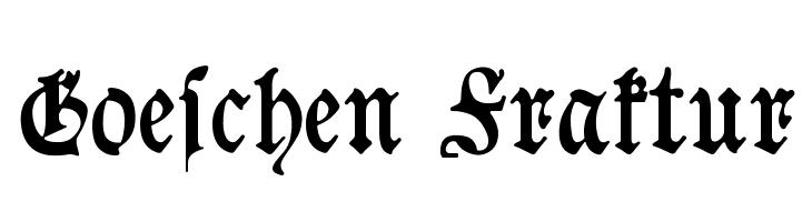 Goeschen Fraktur  フリーフォントのダウンロード