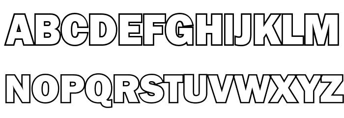 goffik outline font download