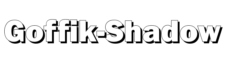 Goffik-Shadow  Free Fonts Download