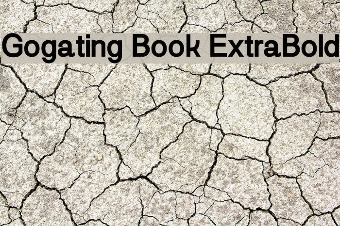 Gogating Book ExtraBold Шрифта examples