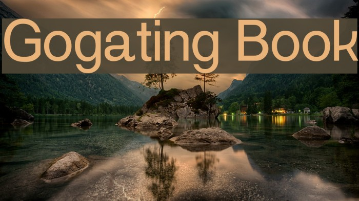 Gogating Book Шрифта examples