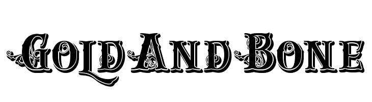 GoldAndBone  les polices de caractères gratuit télécharger