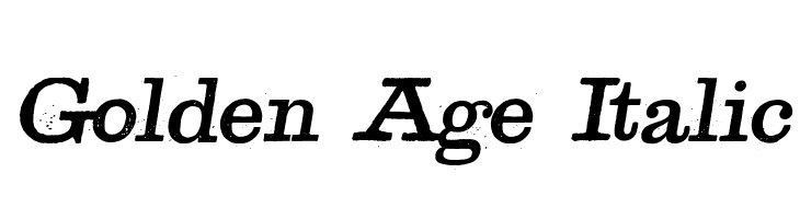 Golden Age Italic  Free Fonts Download