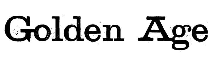 Golden Age  Free Fonts Download