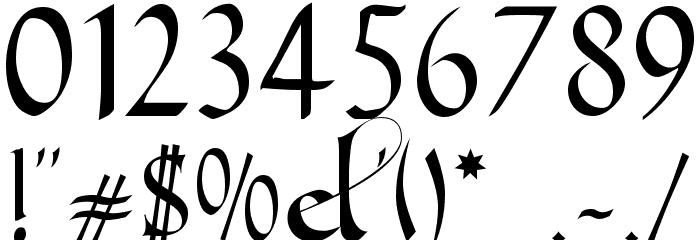 Gondola SD - Swash لخطوط تنزيل حرف أخرى