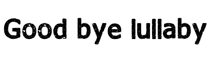 Good bye lullaby  Free Fonts Download