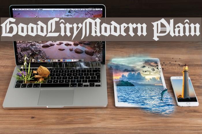 GoodCityModern Plain Schriftart examples