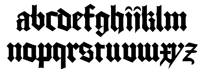 GoodCityModern Plain Schriftart Kleinbuchstaben