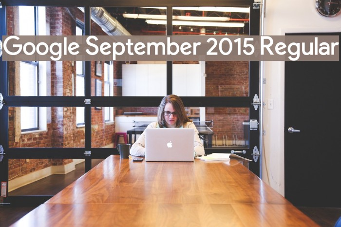Google September 2015 Regular Font examples