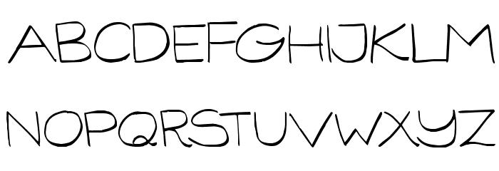 GorillaComix-Light फ़ॉन्ट अपरकेस