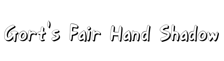 Gort's Fair Hand Shadow  Free Fonts Download