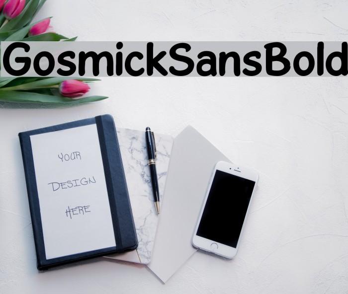 GosmickSansBold Font examples