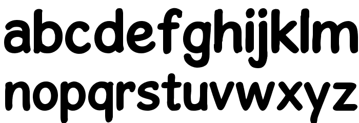 GosmickSansBold Font Litere mici