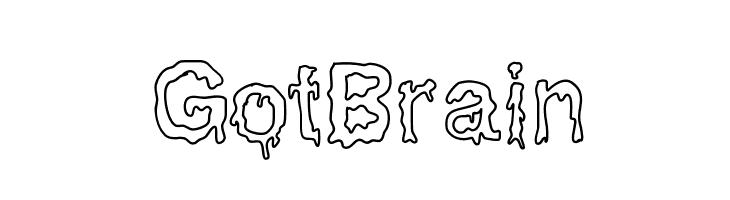 GotBrain  baixar fontes gratis