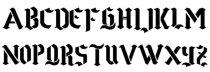 Goth Stencil Fuentes MINÚSCULAS