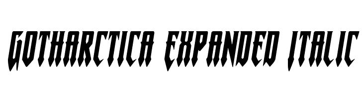 Gotharctica Expanded Italic  baixar fontes gratis