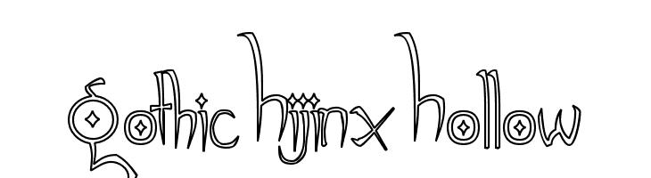 Gothic Hijinx Hollow  Скачать бесплатные шрифты