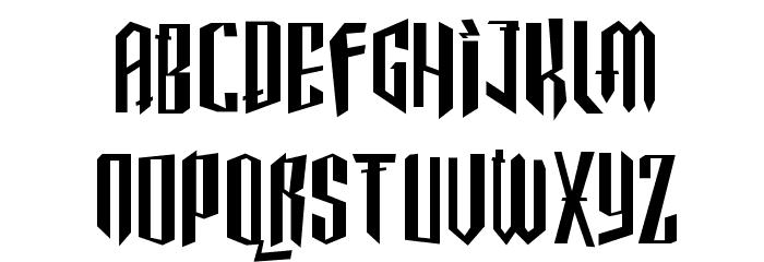 Gothickella Short Font UPPERCASE