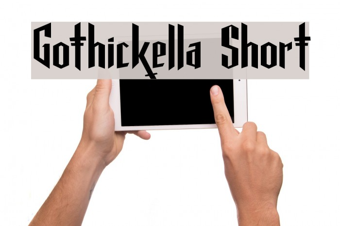 Gothickella Short फ़ॉन्ट examples