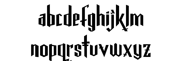 Gothickella Short Font LOWERCASE