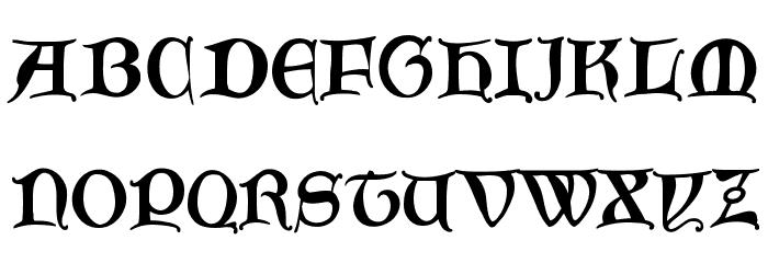 GoticaBastard Font Litere mari
