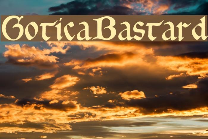 GoticaBastard Font examples