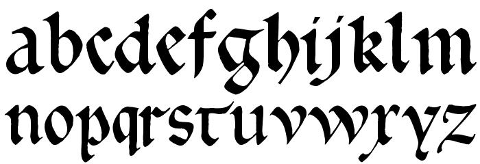 GoticaBastard Font Litere mici