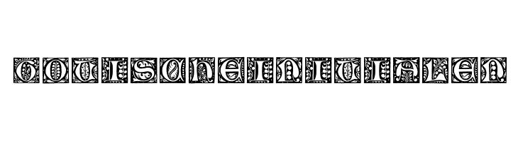 GotischeInitialen  les polices de caractères gratuit télécharger