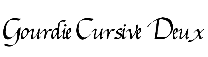 Gourdie Cursive Deux  Free Fonts Download