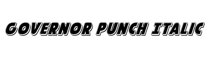 Governor Punch Italic  नि: शुल्क फ़ॉन्ट्स डाउनलोड